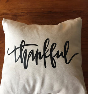 Thankful throw pillow