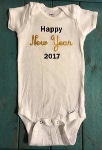 Happy new year 2017 Onesie - Funny Onesie - Shower gift - baby clothes - New Years onesie