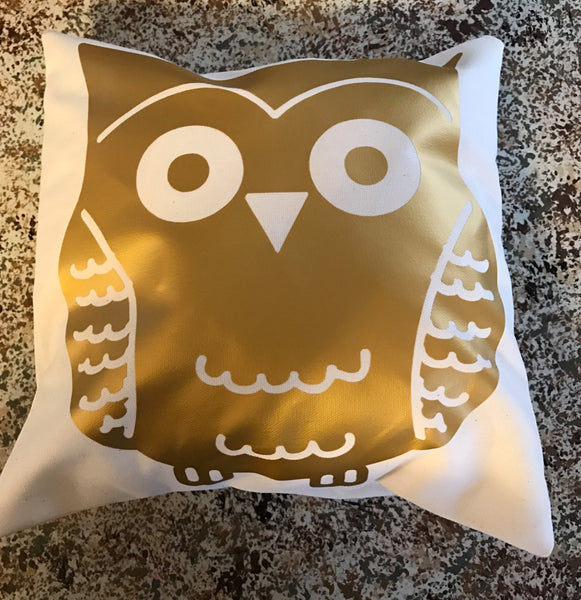 Owl throw pillow, owl decor