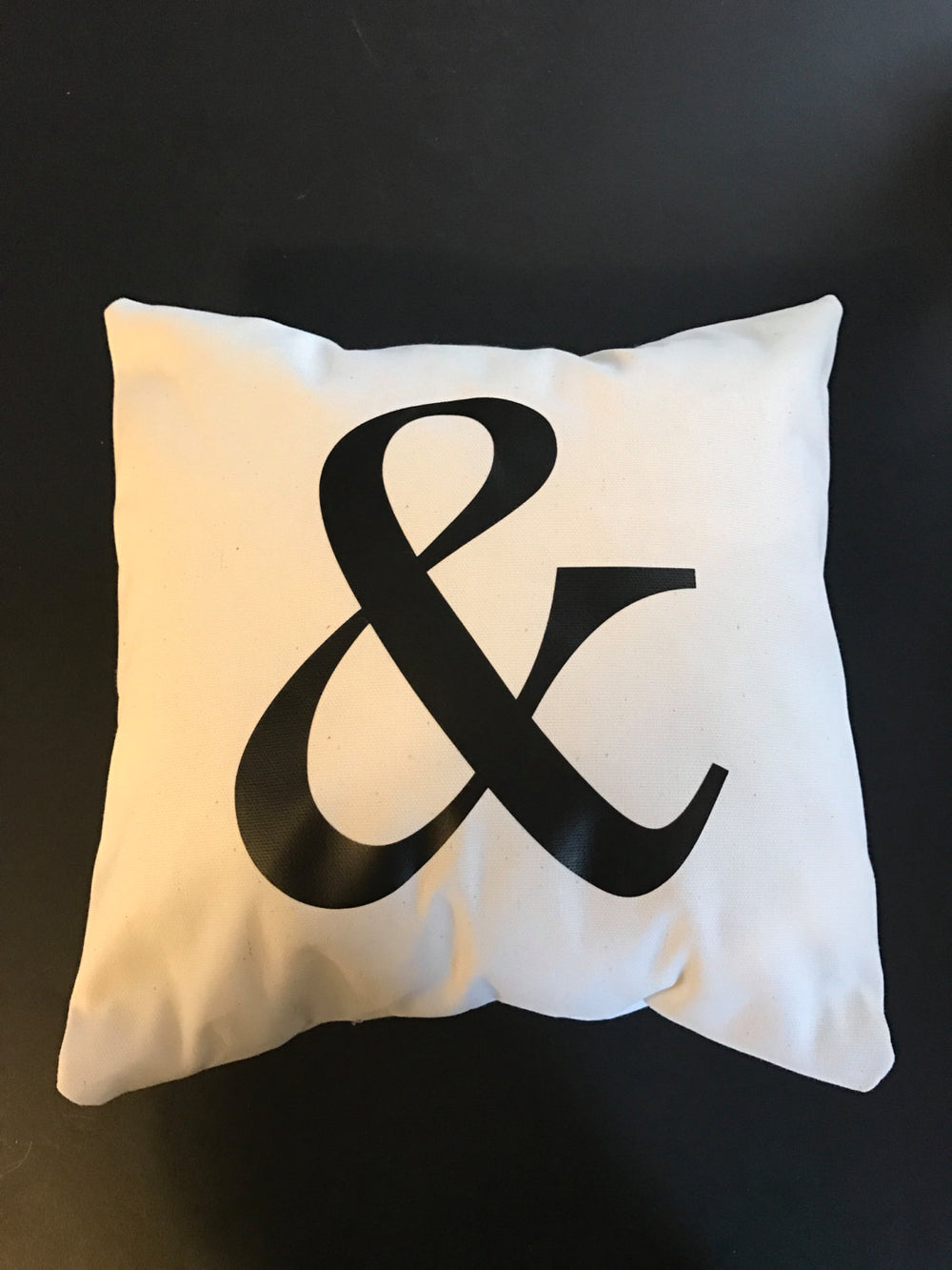 Ampersand throw pillow, and sign throw pillow