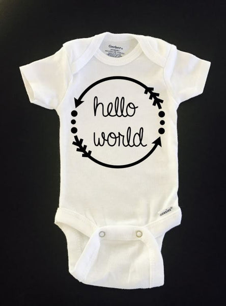 Newborn Hello World Coming Home Outfit