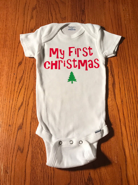 My first Christmas tree onesie, Funny custom Onesies, baby shower gift, baby clothes, newborn baby gifts, baby bodysuits, baby outfits