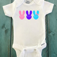 Easter Bunny onesie ® brand Gerber Onesie Bodysuit, Easter outfit, multi colored rabbits