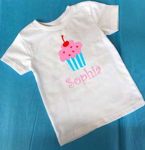 Birthday Outfit Cupcakes Pants And Shirt Toddler Girl Clothes