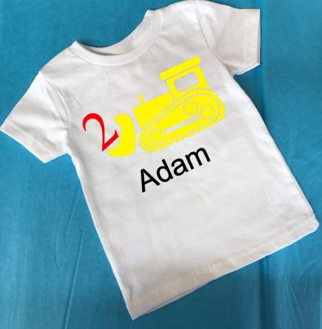 Second birthday shirt - two year old birthday shirt
