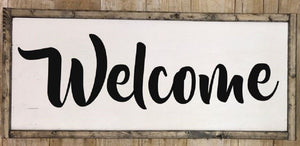 Welcome sign, Welcome wall art