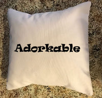 Adorkable throw pillow