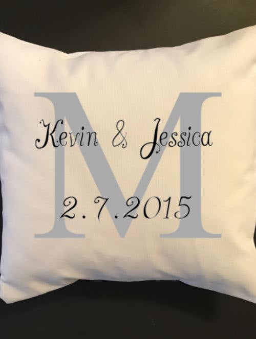 Wedding anniversary throw pillow, cutomized pillow, wedding, engagement, anniversary gift