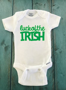Luck of the Irish St. Patrick's day onesie ® brand Gerber Onesie Bodysuit