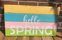Hello Spring pallet art, Spring wall art Spring  decor, Easter decorations