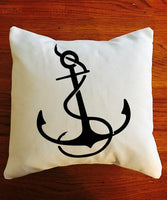 Anchor throw pillow, nautical decor, Nautical throw pillow