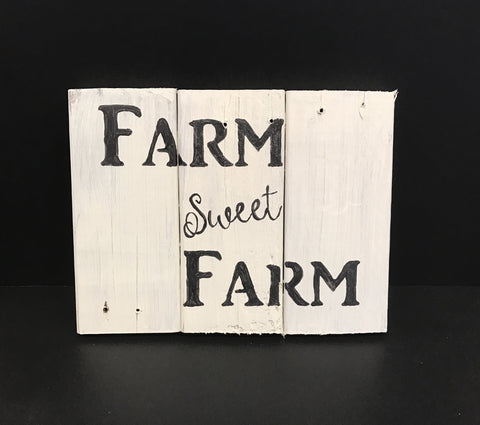 Farm sweet Farm pallet art, wall hanging, sign, kitchen decor