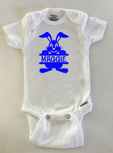 Easter Bunny with name onesie ® brand Gerber Onesie Bodysuit, Easter outfit