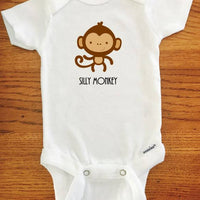 Silly Monkey onesie ® brand Gerber Onesie Bodysuit, baby girl outfit