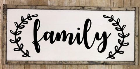Family sign, Family wall art