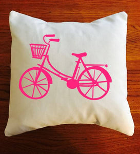 Bicycle Throw pillow, Bike cushion, bicycle decor