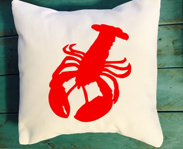 Lobster throw pillow, nautical decor, Nautical throw pillow
