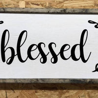 Blessed sign, Blessed wall art