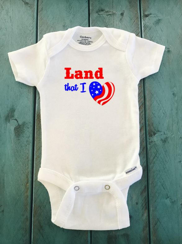 Land that I love ONESIE ® brand Gerber Onesie Bodysuit - Funny Onesie - Shower gift - baby clothes - newborn onesie