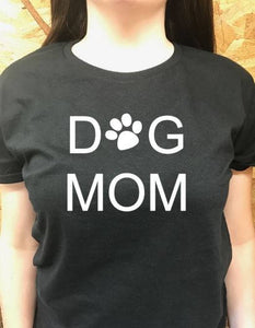 Dog Mom t shirt, women's t shirts with words, funny t shirts, teenager t shirts with words, graphic tees, dog lover's gifts