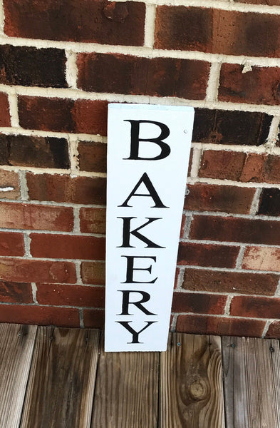 Vertical Farmhouse style Bakery Sign