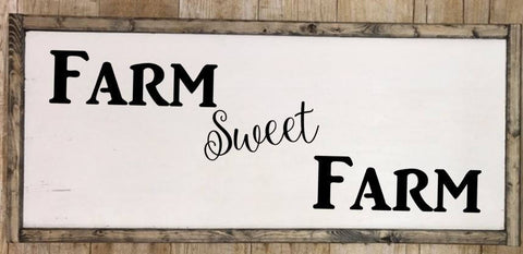 Farm Sweet Farm sign, farmhouse sign, farmhouse decor, kitchen signs, kitchen decor sign