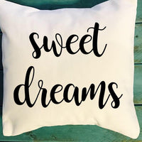 sweet dreams pillow, farmhouse decor pillow, southern decor pillow, housewarming gifts, wedding presents