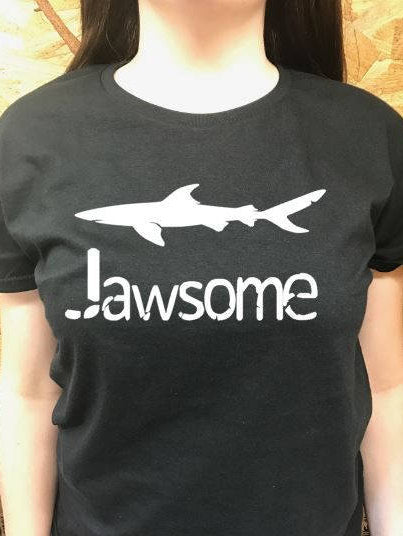 Jawsome t shirt, women's t shirts with words, men's t shirts with words, funny t shirts, teenager t shirts with words, graphic tees