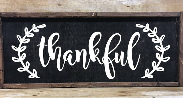 Thankful sign, thankful wall art, Farmhouse sign decor