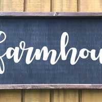 Farmhouse sign, Farmhouse wall art, Farmhouse kitchen decor, framed farmhouse signage, black farmhouse