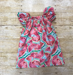 Slice of Summer Watermelon Peasant dress