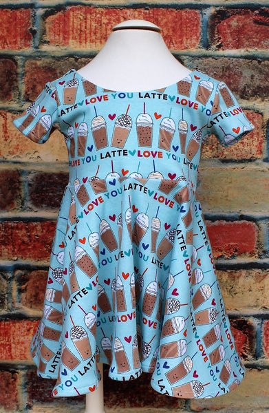 Love You Latte twirl dress
