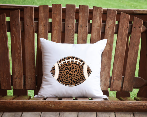 leopard football Throw pillow
