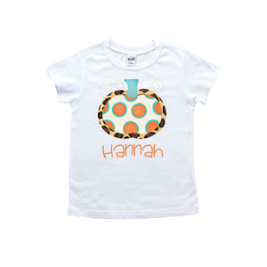 Personalized Leopard Pumpkin Tee shirt