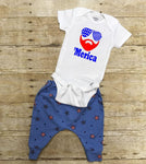 'Merica pants and onesie or T Shirt outfit