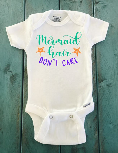 Mermaid Hair Don't Care ONESIE ® brand Gerber