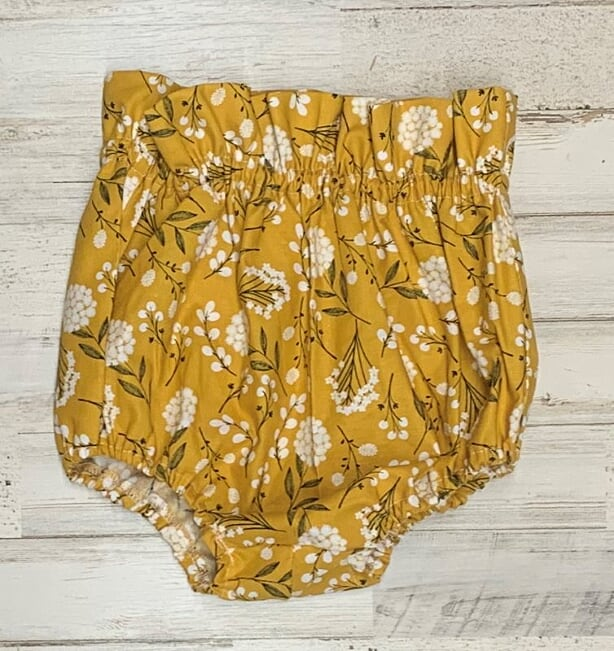 Mustard Floral Bloomers