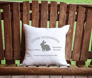 Peter Cottontail Easter Throw Pillow