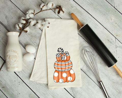 Pumpkin Stack Kitchen Towel