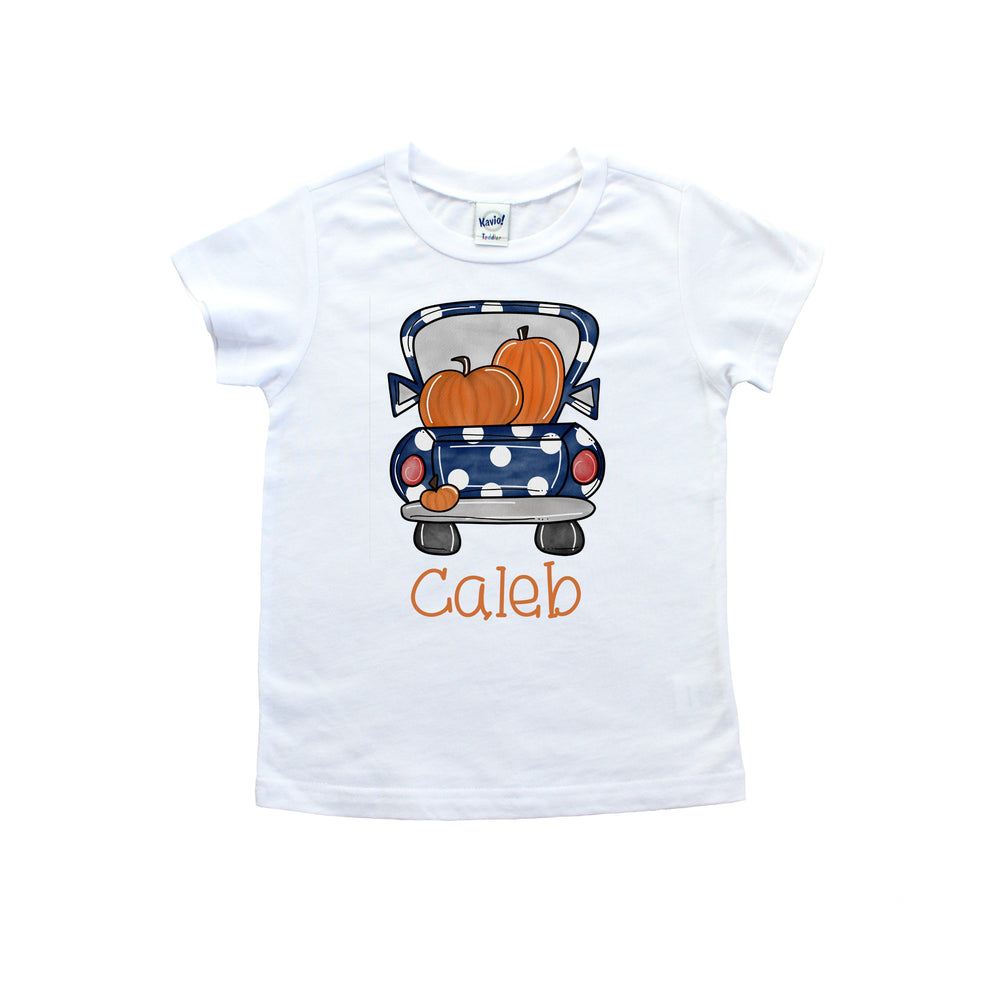 Personalized Pumpkin Truck Tee shirt