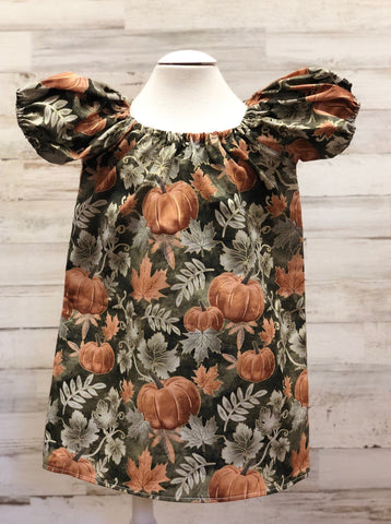 Pumpkins Peasant dress