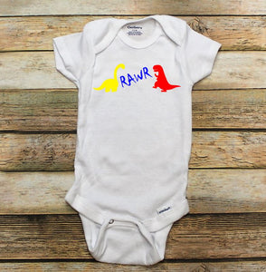 Rawr Dinosaur pants and ONESIE ® or t shirt outfit