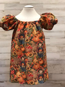 Scarecrow and Pumpkins Peasant dress