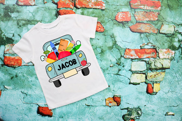 Personalized School Truck Tee shirt