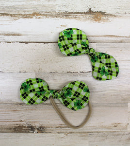 St. Patrick's Day Shamrock Knot Hair Bow