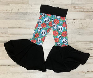 Skulls And Roses Bell Bottoms