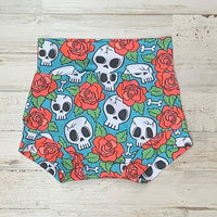 Skulls And Roses High Waisted Bummies