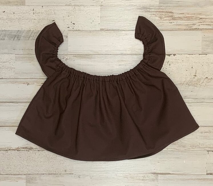 Solid Brown Crop Top