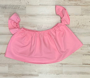 Solid Light Pink Crop Top