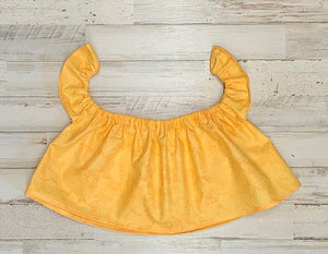 Solid Yellow Crop Top